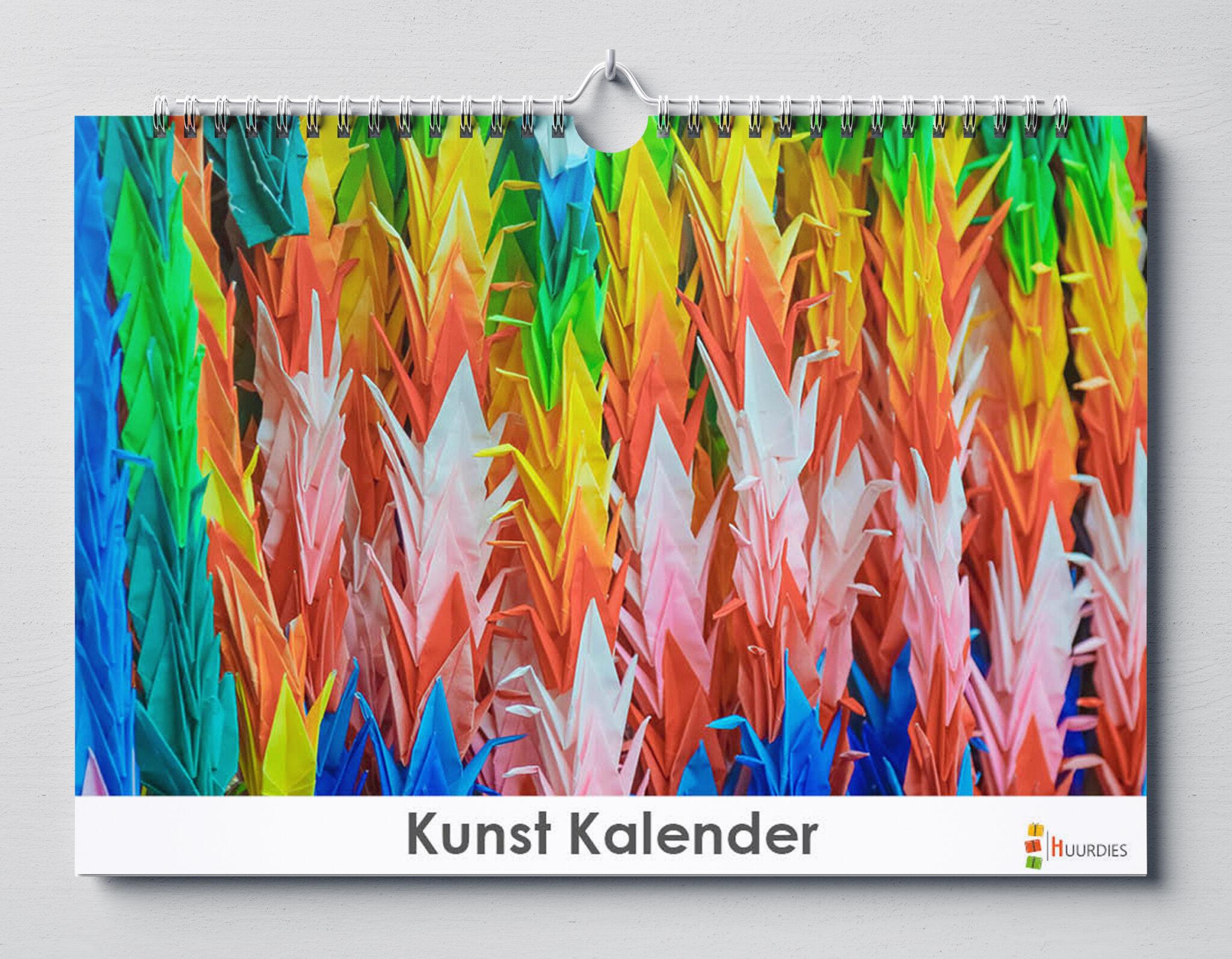 Kunst kalender A vooraanzicht